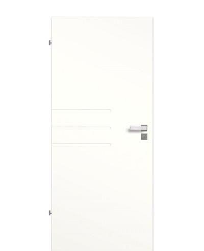 Innentür / Zimmertür Weiß 9010 mit drei Querfräsungen (Rillen) halblang 198,5cm