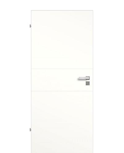 Zimmertür / Innentür Weiß 9010 mit zwei Querstreifen/Rillen 198,5cm