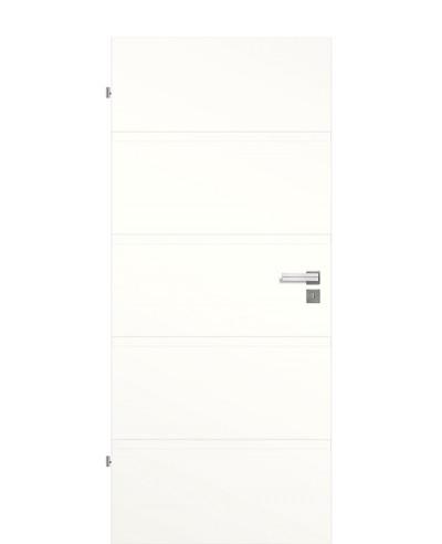 Zimmertür Innentür Türblatt Konturtür Weißlack Madona M5 RSP Eckkante