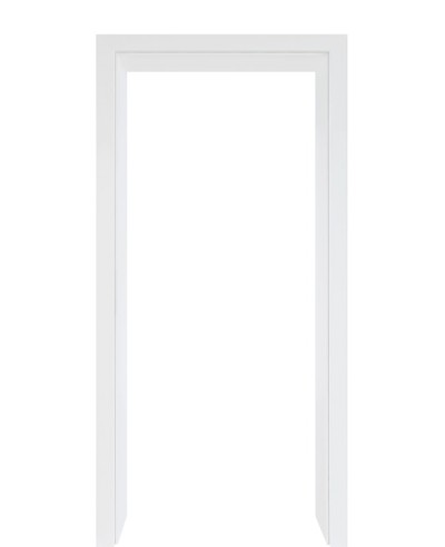 Designkante für Durchgangszarge CPL Weißlack 9003