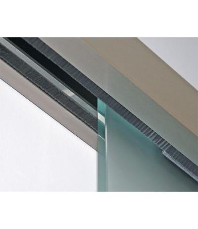 Glasschiebetür Schiebetür Ganzglasschiebetür Classic 50 Bürstendichtung 8mm ESG