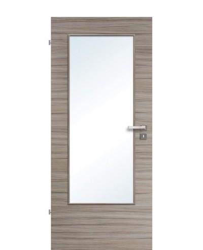 Zimmertür / Innentür Lichtausschnitt CPL Akazie Steingrau gebürstet LA DIN