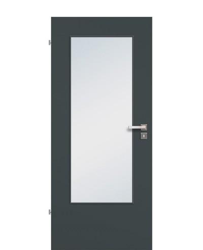 Zimmertür / Innentür Lichtausschnitt CPL Anthrazitgrau LA DIN