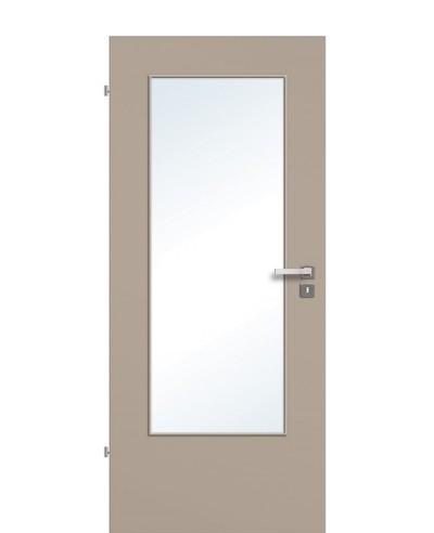 Zimmertür / Innentür Lichtausschnitt CPL Graubeige LA DIN