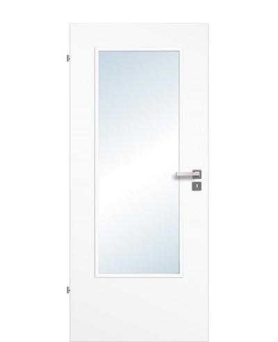 Zimmertür / Innentür Lichtausschnitt CPL Uni-weiß LA DIN