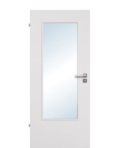 Zimmertür / Innentür Lichtausschnitt CPL Uni-grau LA DIN