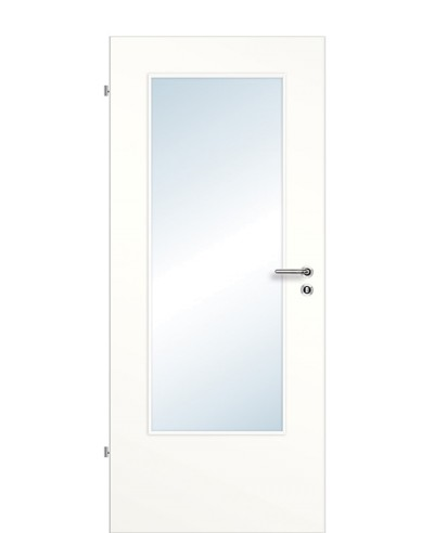 Zimmertür / Innentür Lichtausschnitt CPL Weißlack LA DIN