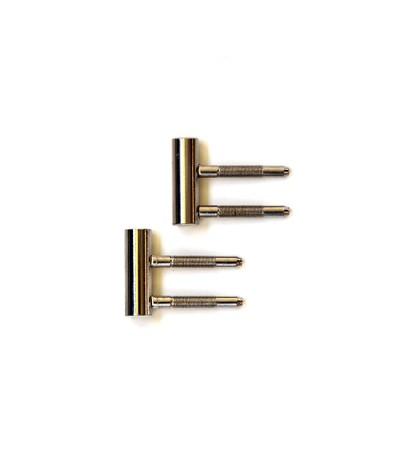 2x 3-teilige Bänder (Rahmenteil) zum Umrüsten von Wohnungseingangstüren / Schallschutztüren