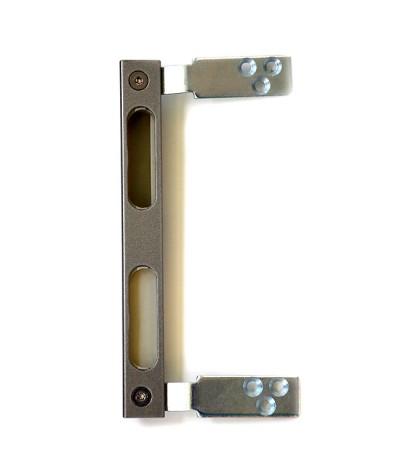 Sicherheitsschließblech Nickelsilber zum Umrüsten von Wohnungseingangstüren