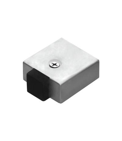 Türstopper quadratisch Edelstahl-matt Höhe 25mm
