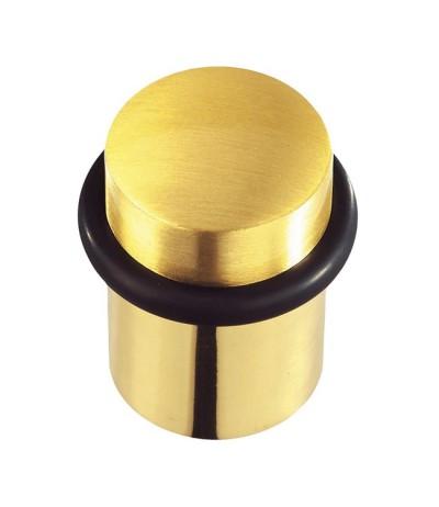 Türstopper rund Messing-poliert-satiniert Höhe 44mm