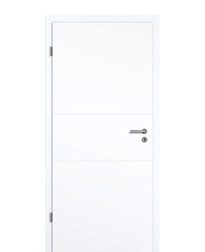 Shade Calvane GA3 Innentür-Komplettset Weißlack Vivid 9003 2-Querfräsungen 70mm Designkante 198,5cm