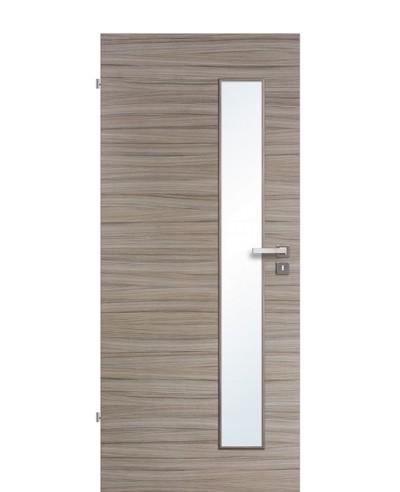 Innentür / Zimmertür Akazie Steingrau gebürstet CPL schmaler Lichtausschnitt LA S