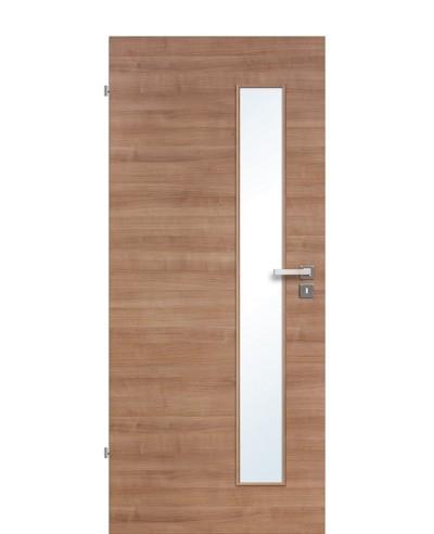 Innentür / Zimmertür Akazie Terra quer gebürstet CPL schmaler Lichtausschnitt LA S