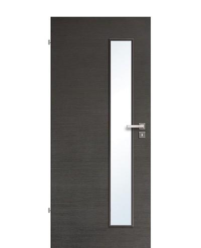 Innentür / Zimmertür Eiche Graphit quer gebürstet CPL schmaler Lichtausschnitt LA S