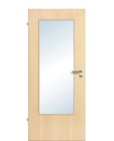 Furnier Zimmertür / Innentür Lichtausschnitt LA DIN