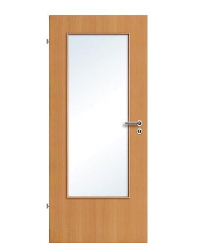 Furnier Zimmertür / Innentür Buche Lichtausschnitt LA DIN