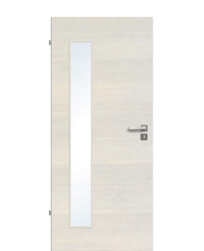 Zimmertür / Innentür Livido Fineline quer strukturiert/gebürstet CPL schmaler Lichtausschnitt LA B