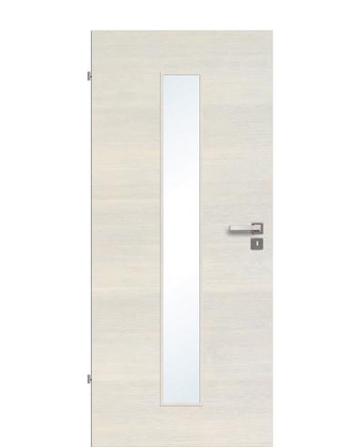 Zimmertür / Innentür Livido Fineline quer strukturiert/gebürstet CPL schmaler Lichtausschnitt LA M