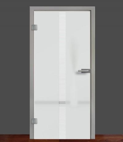 Zimmertür Innentür Türblatt Ganzglastür Glastür Glas Tür 8mm ESG 3D Motiv Vasti 70