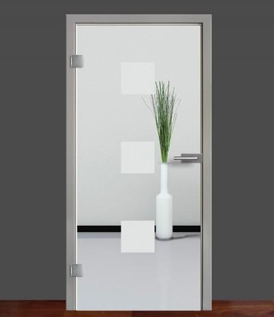 Zimmertür Innentür Türblatt Ganzglastür Glastür Glas Tür Sandstrahlmotiv Sond 1