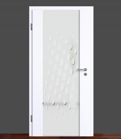 Zimmertür Innentür Türblatt Holzglastür Weißlack Vasti 82 Rundkante Glastür