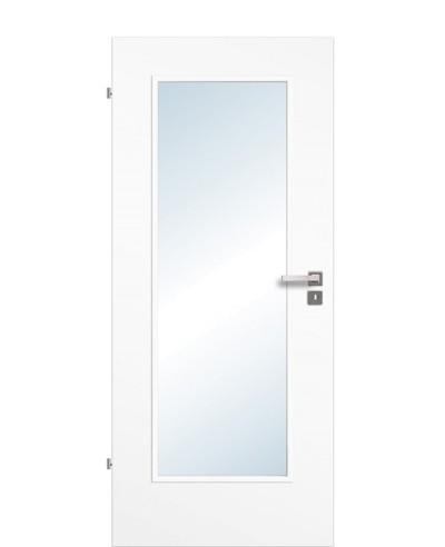 Zimmertür / Innentür Uni-weiß CPL großer Lichtausschnitt LA1
