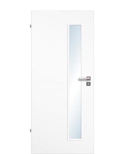 Zimmertür / Innentür Uni-weiß CPL großer Lichtausschnitt LA S