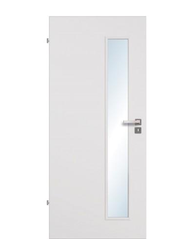 Zimmertür / Innentür Uni-grau CPL Lichtausschnitt LA S