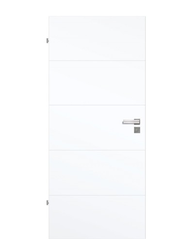 Shade Calvane GA5 Innentür Weißlack Vivid 9003 4-Querprägungen 198,5cm