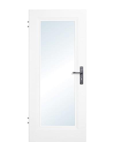 Zimmertür / Innentür Weißlack 9010 Lichtausschnitt 1G LA