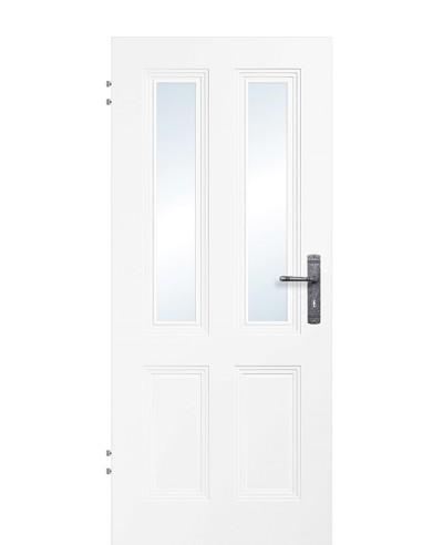Zimmertür / Innentür Weißlack 9010 Lichtausschnitt 4G 2LA