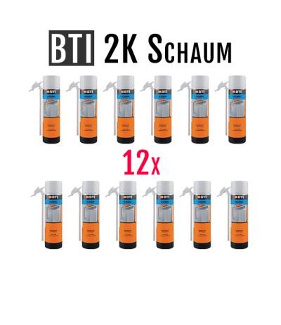 12x 400ml BTI PU 2K Schaum mit Drehflügel | Schnellhärtend