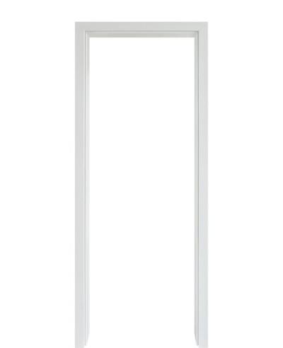 Durchgangszarge CPL Weißlack 9010 Rundkante 60mm