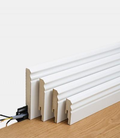 Fußleiste Folienummantelt Leiste Weiß überstreichbar Profil 10MK Meister
