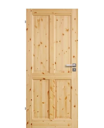 Zimmertür Innentür Türblatt Vollholzprofiltür Stackhalm Kiefer astig lackiert 4G Feinkante