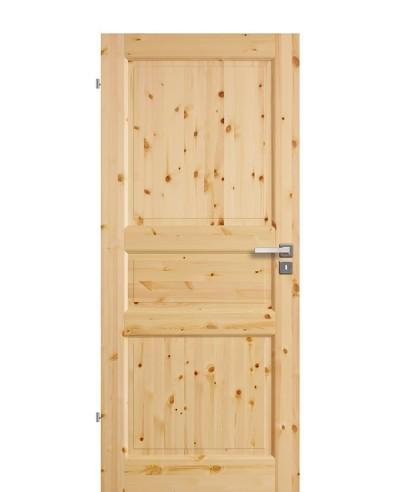 Zimmertür Innentür Türblatt Vollholzprofiltür Stackhalm Kiefer astig lackiert 3G Feinkante