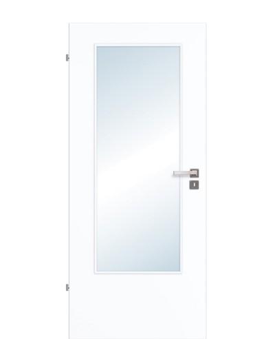 Innentür / Zimmertür CPL Weißlack 9003 mit Lichtausschnitt LA DIN 211,0cm