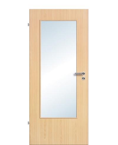 Zimmertür / Innentür Lichtausschnitt CPL Ahorn LA DIN
