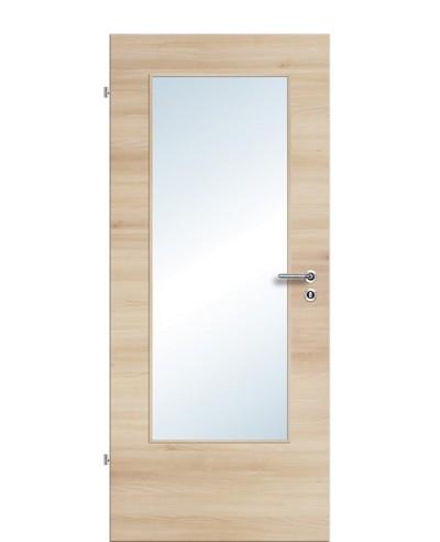 Zimmertür / Innentür Lichtausschnitt CPL Akazie-quer LA DIN