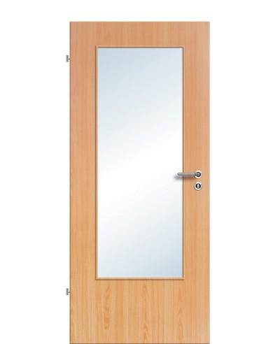 Zimmertür / Innentür Lichtausschnitt CPL Buche LA DIN