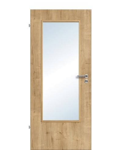 Zimmertür / Innentür Lichtausschnitt CPL Eiche-astig LA DIN