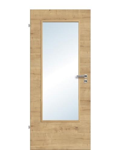 Zimmertür / Innentür Lichtausschnitt CPL Eiche-astig-quer LA DIN