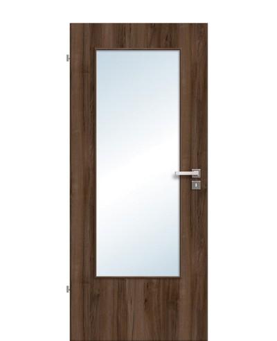 Zimmertür / Innentür Lichtausschnitt CPL Haselnuss LA DIN