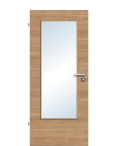 Zimmertür / Innentür Lichtausschnitt CPL Noce-quer LA DIN