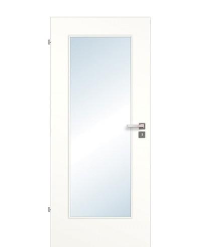 Zimmertür / Innentür Weißlack 9010 CPL großer Lichtausschnitt LA1