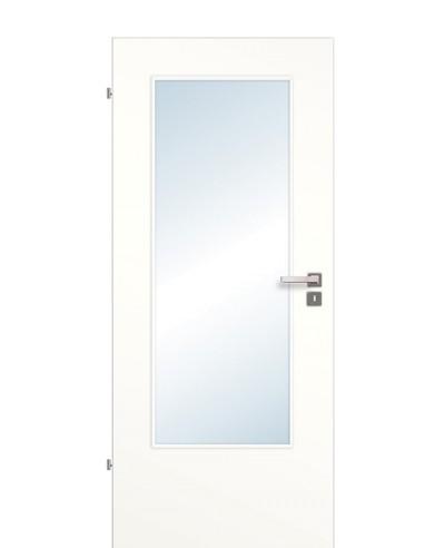 Zimmertür / Innentür Lichtausschnitt CPL Weißlack 9010 LA DIN