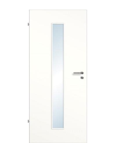Zimmertür / Innentür Weißlack 9010 CPL Lichtausschnitt LA M