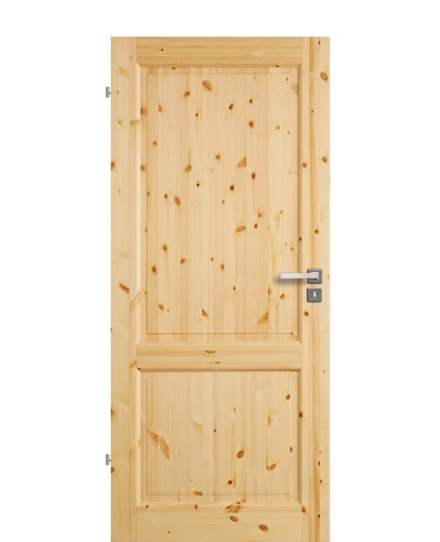 Zimmertür Innentür Türblatt Vollholzprofiltür Stackhalm Kiefer astig lackiert 2G Feinkante