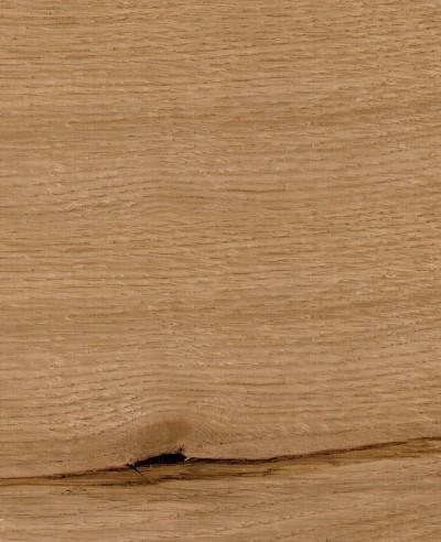 Oberflächen-Mustertafel Furnier gebürstet Eiche Natur geölt-quer